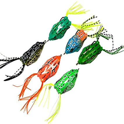 New Frog Lure Bass Fishing Hooks Bait Tackle 5.5cm Topwater 6pcs Soft Great pric
