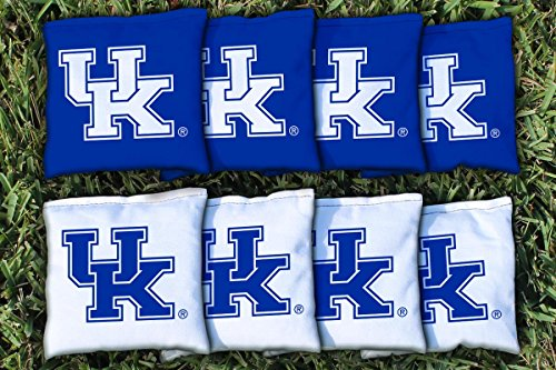 Kentucky UK Wildcats Replacement Cornhole Bag Set (all weather) - 8 Replacement Bean Bags