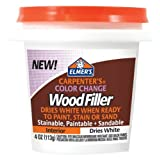 Elmer's E915 Carpenter's Color Change Wood Filler, White, 4 oz