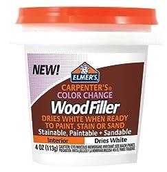 Elmer's Carpenter's Color Change Wood Filler, 4 oz., White (E915)