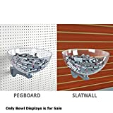 New Retails 12 Inch Clear Polycarbonate Bowl Displays For Pegboard & Slatwall