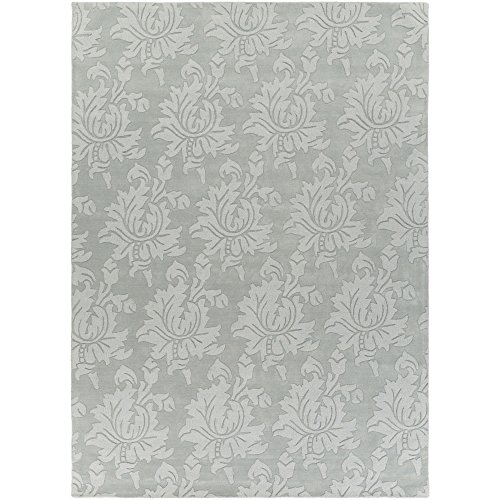 - Surya Mystique M-5399 Hand Loomed Wool Solids and Borders Area Rug, 8-Feet by 11-Feet