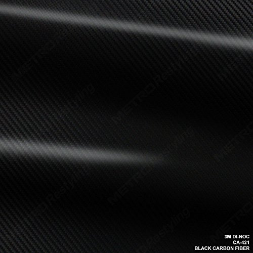 (3M DI-NOC CA-421 BLACK CARBON FIBER 4ft x 1ft (4 sq/ft) Flex Vinyl Wrap)