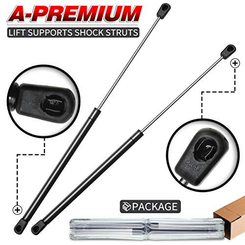 A-Premium Rear Trunk Tailgate Lift Supports Shock Struts Spring Props for Ford Mustang 1994-2004 Panoz Esperante 2000-2007 Without Spoiler SG304019, PM2014, 4643 2-PC Set