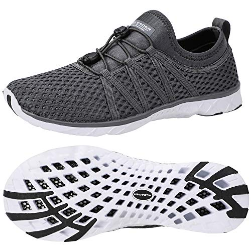 ALEADER Men's Xdrain Classic 3.0 Water Shoes Dark Gray 12 D(M) - Slip Non Boat Shoes