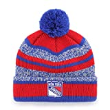 ranger hockey hat - NHL New York Rangers Huset OTS Cuff Knit Cap with Pom, Red, One Size