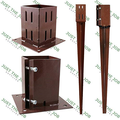 "15 x 100MM  4/"" BOLT DOWN BOLT GRIP FENCE POST SUPPORT Like Metpost Timber Holder"