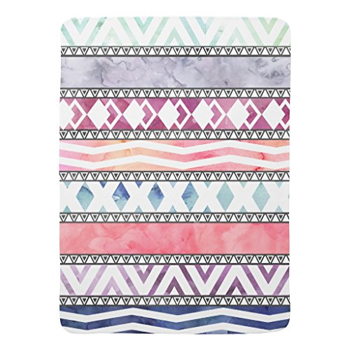 Zazzle Bright Pastel Watercolor Tribal Aztec Pattern Baby Blanket Pastel Stripe Baby Blanket