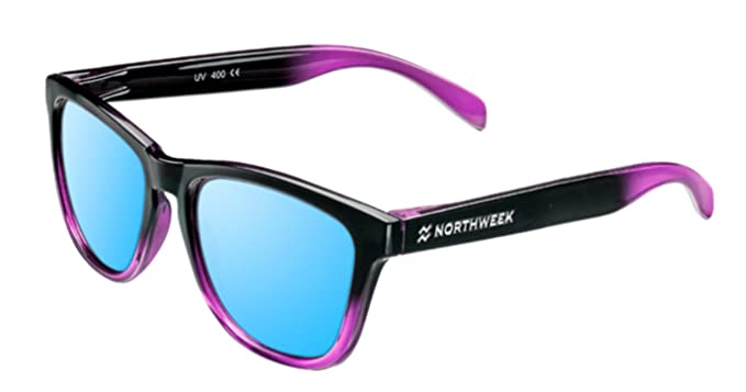Gafas de sol Northweek GRADIANT SHINE BLACK & PINK - ICE BLUE POLARIZADA - UNISEX (