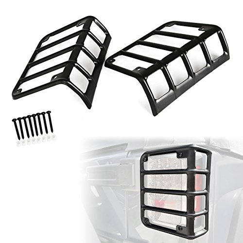 ALAVENTE Rear Tail Light Guards Cover Moulding Trim Protector for 2007-2015 JEEP Wrangler JK/JKU (Pair, Matte Black)