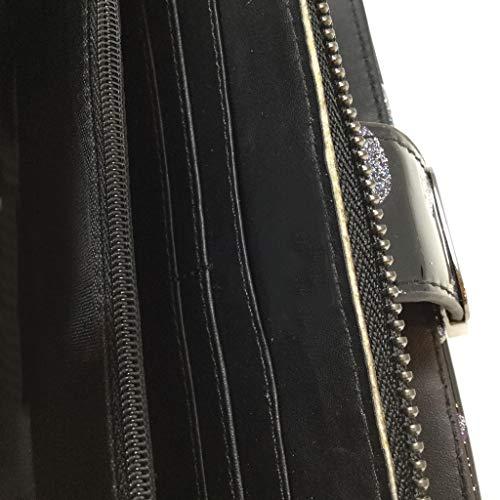 lucido di per tutti i Retro l'idea pelletteria Fancy giorni Angkorly usato Nero per Vintage Portafoglio Modern accessorio regalo Pratico contenitore piccolo multiplo Portafoglio tRPUqYH