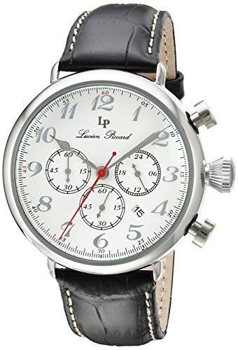 Lucien Chrono Piccard (Lucien Piccard Men's LP-72415-02S Trieste Analog Display Japanese Quartz Black Watch)