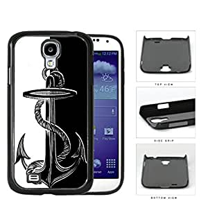 Boat Anchor Black And White Hard Plastic Snap On Cell Phone Case Samsung Galaxy S4 SIV I9500