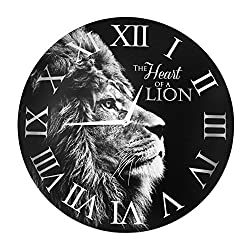 Lion Wall Clock - 'The Heart of a Lion' (16)