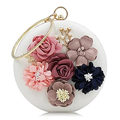 Milisente Women Clutches Purses Floral Evening Bag Pearls Clutch Handbags