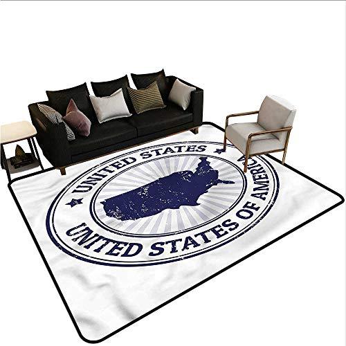 USA Map,Front Mat Home Decorative Carpet 24