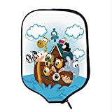 YOLIYANA Noahs Ark Durable Racket Cover,Noahs Ark with Cute Animals Seafaring Comic Style Adventurous Artwork Print for Sandbeach,One Size