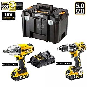 DeWalt - Kit xprof144 (dcd796 + DCF899 + 2 batteries X 5,0 ...