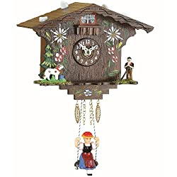 Trenkle Kuckulino Black Forest Clock Swiss House with Quartz Movement and Cuckoo Chime TU 2022 SQ