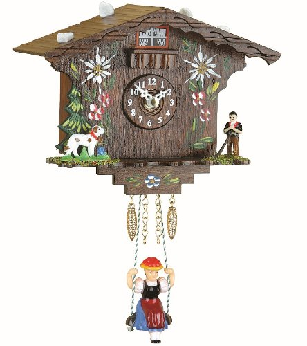 Trenkle Kuckulino Black Forest Clock Swiss House with Quartz Movement and Cuckoo Chime TU 2022 SQ by Trenkle