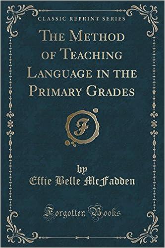 ผลการค้นหารูปภาพสำหรับ The Method of Teaching Language in Primary Grades