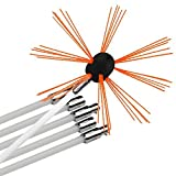 Chimney Brush-Original CyclonePlus Multi Length Electrical Drill Drive Sweeping Cleaning Tool Kits with Nylon Flexible Rods (16 rods)