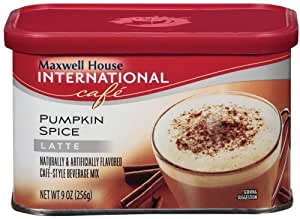 Maxwell House International Cafe Cafe-Style Beverage Mix, Pumpkin Spice Latte, 9 oz