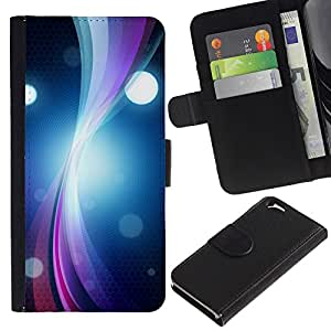 All Phone Most Case / Oferta Especial Cáscara Funda de cuero Monedero Cubierta de proteccion Caso / Wallet Case for Apple Iphone 6 // Ring Vibrant Circle Lines Bright Black Art