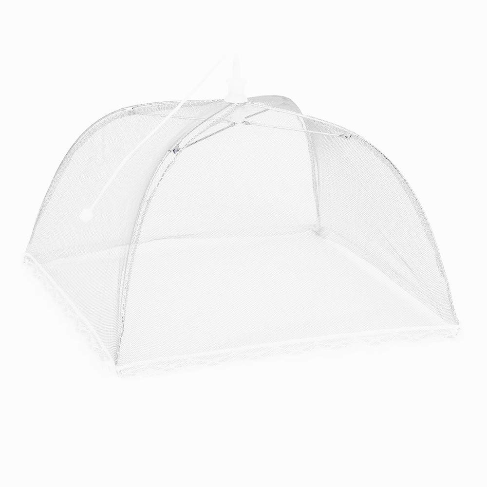 2PCS Food Cover Tent Large Pop-Up Mesh Screen Protector Collapsible Dome Net Food Umbrella for Home Outdoor Picnic (White) by Codiak-Kitchen (Image #2)