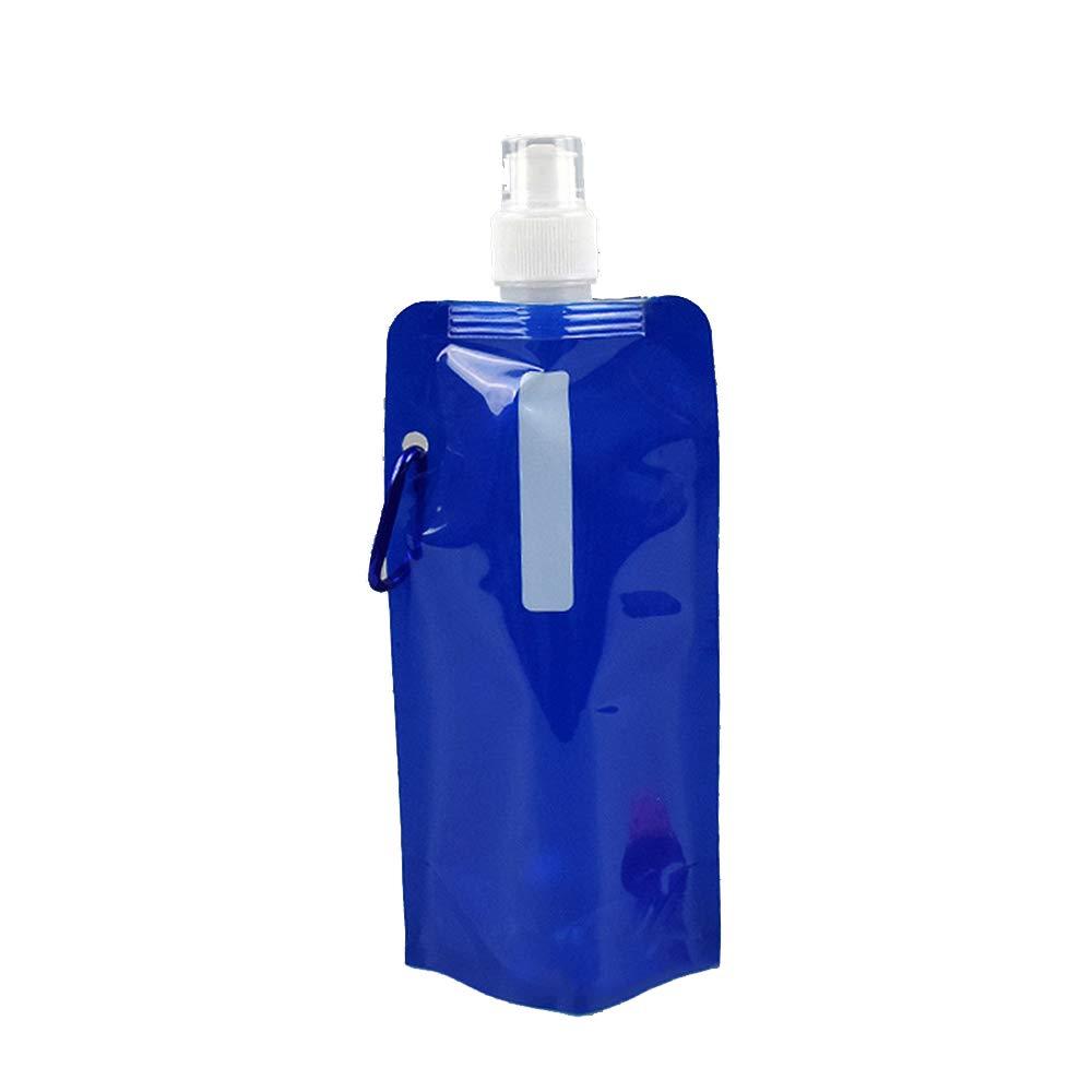 Lyanther Sportwasserflaschen von | Zusammenklappbar u0026 Campingfreundlich | BPA frei | Unique Collapsible Bottles fassen 480 ml | Perfekt zum Radfahren, Wandern oder Entspannen