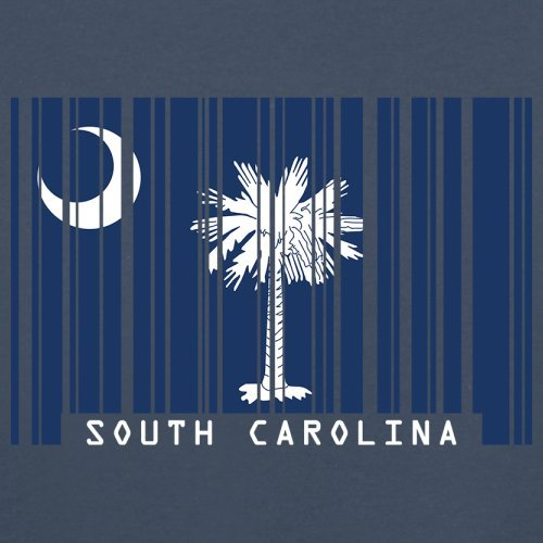 South Carolina / Süd-Carolina Barcode Flagge - Herren T-Shirt - Navy - M