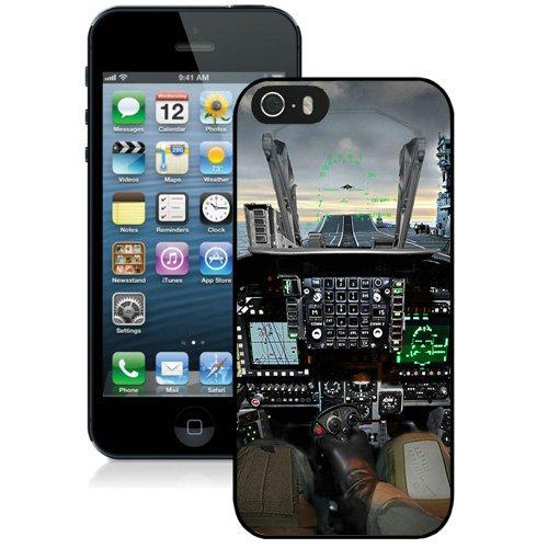 Coque,Fashion Coque iphone 5S Jet Cockpit Lockscreen Noir Screen Cover Case Cover Fashion and Hot Sale Design