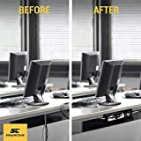 Simple Cord Under Desk Cable Organizer Cord Cover - Cable Management Channel to Hide Power Strips, Wires, Power Supplies, Surge Protectors, Cables or Cords at Home or Office - SimpleCord