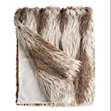 Fabulous Furs: Faux Fur Luxury Throw Blanket, Russian Lynx, Available in generous sizes 60''x60'', 60''x72'' and 60''x86'', by Donna Salyers