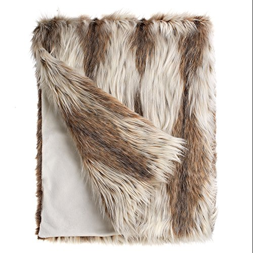 "Fabulous Furs: Faux Fur Luxury Throw Blanket, Russian Lynx, Available in Generous Sizes 60""x60"", 60""x72"" and 60""x86"", by Donna Salyers -  Donna Salyers' Fabulous Furs, 11006RLNX"