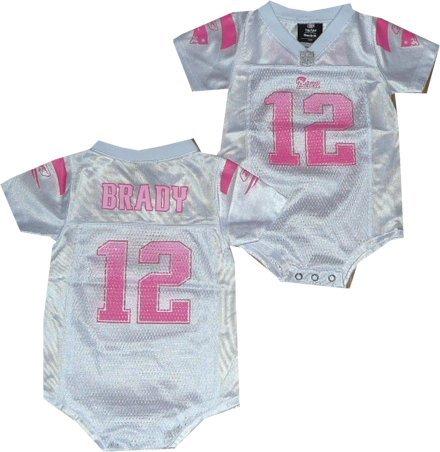 2bc8169e3 New England Patriots Tom Brady Reebok Girls White Creeper Jersey (24 Months)