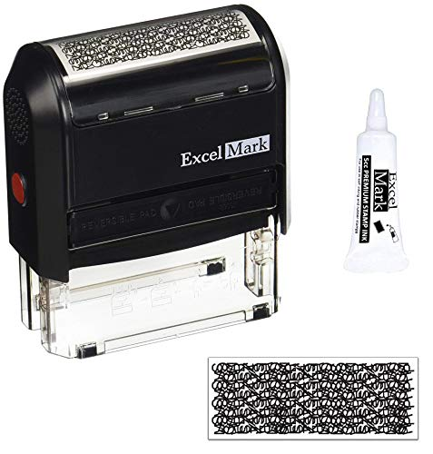 Excelmark Identity Theft Guard Stamp, Large (A3068) with 5cc Refill Ink ()