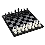 Magnetic Folding Chess Board, Travel Chess/ Checkers/ Backgammon Game Set, Educational Toys for Kids and Adults