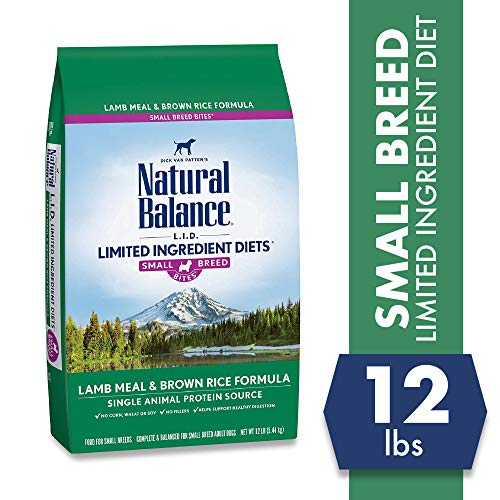 Natural Balance Limited Ingredient Diets Lamb Meal and Brown Rice Formula Small Breed Bites Dry Dog Food, 12-Pound Bag
