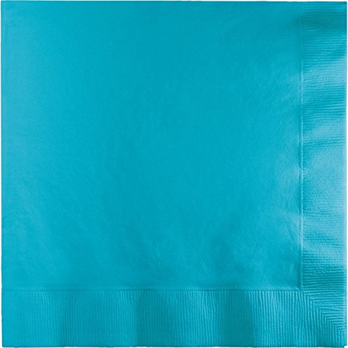 Club Pack of 250 Bermuda Blue Premium 3-Ply Disposable Dinner Party Napkins 8.75
