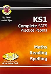 KS1 Complete SATs Practice Papers - Maths, Reading and Spelling