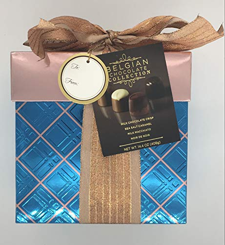 Belgian Chocolate Truffles Collection Gift Box 14.4 OZ (Box Colors Will Vary)