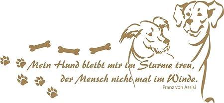Grazdesign 640090 40 081 Wandtattoo Spruch Mein Hund Bleibt
