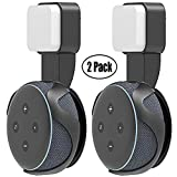 Yuanling Outlet Wall Mount Hanger Stand for Dot 3rd Gen, A Space-Saving Solution for Your Smart Home Speakers Without Messy Wires or Screws (Dot 3rd Black 2 Pack)