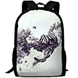 ZQBAAD Love From Above Don't Stop Luxury Print Men And Women's Travel Knapsack