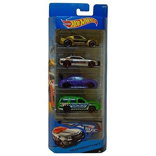 Hot Wheels, HW City, Police Pursuit 5-Pack