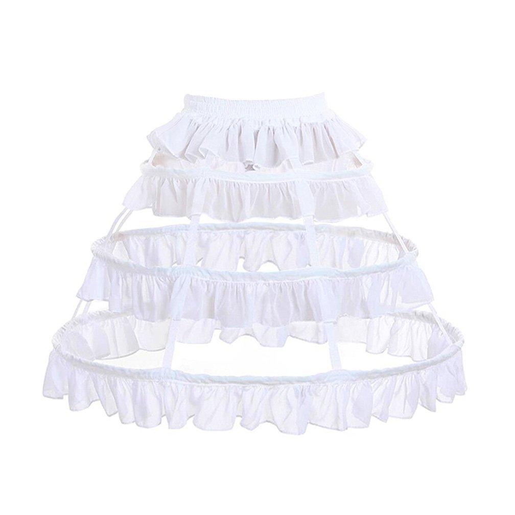 Loligals Short 3 Hoops Underskirt Crinoline Birdcage Petticoat With Ruffles