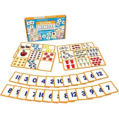 Junior Learning Number Bingo Educational Action Games, Multicolor: Toys & Games