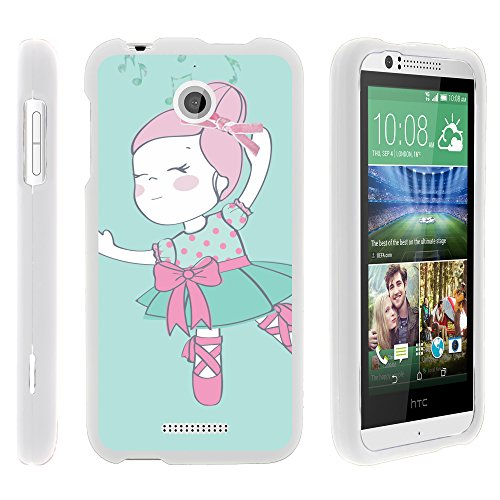 MINITUTLE Compatible with HTC Desire 510 Stylish Personalized Protective Snap On Hard Case Phone Protector Dancing Girl (Boost Htc 510 Desire Phone Cases)