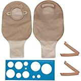 LotFancy 10 Drainable Pouches - Ostomy Bags with Clamps for Colostomy Ileostomy Stoma Care, Cut-to-Fit, Two-Piece System, FDA Approved